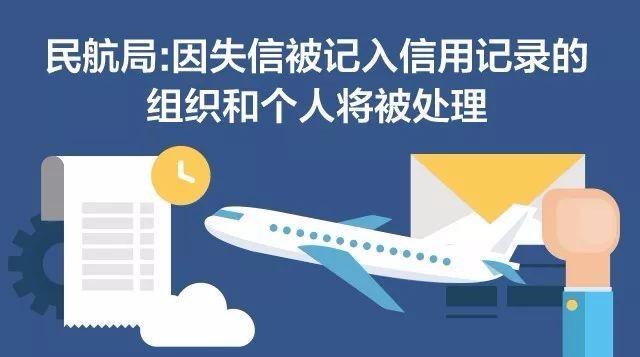 民航局:因失信被记入信用记录的组织和个人将被处理