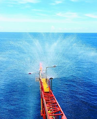 南海天然气水合物试采工程现场