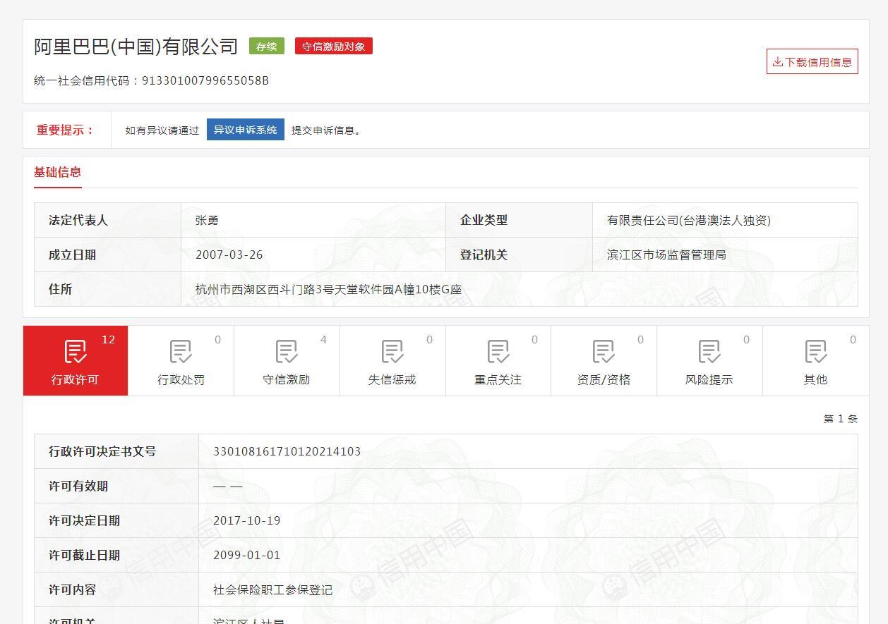 信用中国信用报告